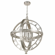 Fine Art Handcrafted Lighting 861240-2 Liaison Contemporary Silver LED Drop Lighting