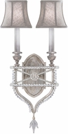 Fine Art Lamps 861650-11ST Prussian Neoclassic Prussian Silver Gray Wall Sconce w/ Shades