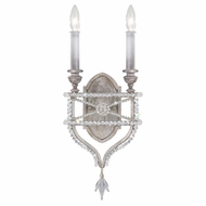 Fine Art Lamps 861650-12 Prussian Neoclassic Contemporary Silver LED Wall Lighting
