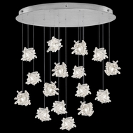 Fine Art Handcrafted Lighting 862840-102L Natural Inspirations LED Contemporary Silver LED Multi Ceiling Light Pendant