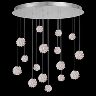 Fine Art Handcrafted Lighting 862840-105L Natural Inspirations LED Contemporary Silver LED Multi Ceiling Pendant Light
