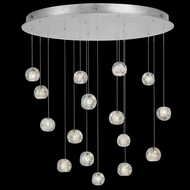 Fine Art Handcrafted Lighting 862840-106 Natural Inspirations Contemporary Silver LED Multi Drop Ceiling Light Fixture