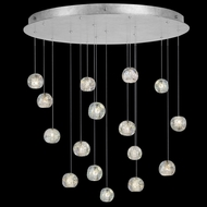 Fine Art Handcrafted Lighting 862840-106L Natural Inspirations LED Contemporary Silver LED Multi Drop Lighting Fixture