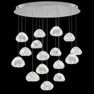 Fine Art Handcrafted Lighting 862840-107 Natural Inspirations Contemporary Silver LED Multi Pendant Lighting