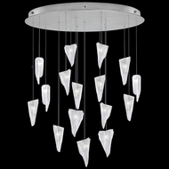Fine Art Handcrafted Lighting 862840-108 Natural Inspirations Contemporary Silver LED Multi Lighting Pendant