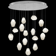 Fine Art Handcrafted Lighting 862840-13L Natural Inspirations LED Contemporary Silver LED Multi Pendant Light Fixture