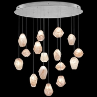 Fine Art Handcrafted Lighting 862840-14L Natural Inspirations LED Contemporary Silver LED Multi Hanging Pendant Lighting