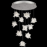 Fine Art Lamps 863540-102 Natural Inspirations Contemporary Silver LED Multi Hanging Pendant Light