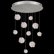 Fine Art Lamps 863540-105L Natural Inspirations LED Contemporary Silver LED Multi Drop Lighting