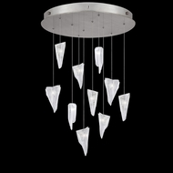 Fine Art Handcrafted Lighting 863540-108 Natural Inspirations Contemporary Silver LED Multi Drop Lighting Fixture
