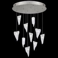 Fine Art Handcrafted Lighting 863540-108L Natural Inspirations LED Contemporary Silver LED Multi Pendant Lighting