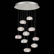 Fine Art Handcrafted Lighting 863540-11 Natural Inspirations Contemporary Silver LED Multi Pendant Light