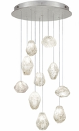 Fine Art Lamps 863540-13ST Natural Inspirations Contemporary Silver Halogen Multi Drop Ceiling Lighting