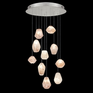 Fine Art Handcrafted Lighting 863540-14L Natural Inspirations LED Modern Silver LED Multi Pendant Light Fixture