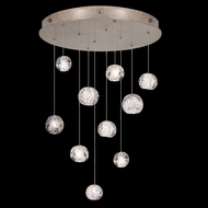 Fine Art Handcrafted Lighting 863540-206 Natural Inspirations Contemporary Gold LED Multi Hanging Light Fixture