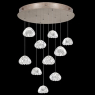 Fine Art Handcrafted Lighting 863540-207 Natural Inspirations Modern Gold LED Multi Drop Ceiling Lighting