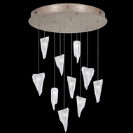 Fine Art Handcrafted Lighting 863540-208L Natural Inspirations LED Gold LED Multi Drop Ceiling Light Fixture