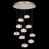 Fine Art Handcrafted Lighting 863540-21 Natural Inspirations Modern Gold LED Multi Drop Lighting Fixture