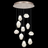 Fine Art Handcrafted Lighting 863540-23 Natural Inspirations Modern Gold LED Multi Pendant Light