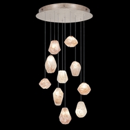 Fine Art Handcrafted Lighting 863540-24 Natural Inspirations Contemporary Gold LED Multi Pendant Lamp