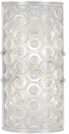 Fine Art Lamps 865250-12ST Hexagons Modern Silver Wall Light Sconce