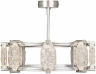 Fine Art Lamps 872840-1ST Allison Paladino Modern Silver Leaf LED Lighting Chandelier