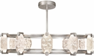 Fine Art Lamps 872940-1ST Allison Paladino Contemporary Silver Leaf LED Ceiling Chandelier