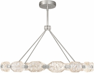 Fine Art Lamps 873140-1ST Allison Paladino Contemporary Silver Leaf LED Chandelier Light