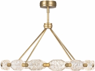 Fine Art Lamps 873140-2ST Allison Paladino Modern Gold Leaf LED Ceiling Chandelier