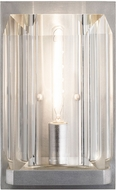Fine Art Lamps 874950-1ST Monceau Platinized Silver Leaf Wall Lighting Sconce
