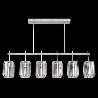 Fine Art Handcrafted Lighting 875240-1 Monceau Modern Silver LED Island Lighting
