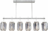 Fine Art Lamps 875240-1ST Monceau Platinized Silver Leaf Island Lighting