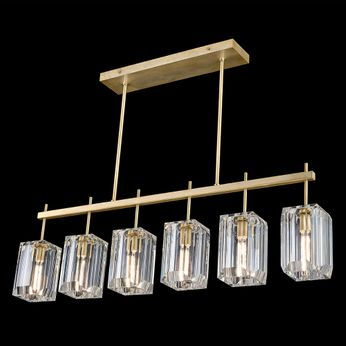 Fine Art Handcrafted Lighting 875240-2 Monceau Contemporary Gold LED Kitchen Island Lighting