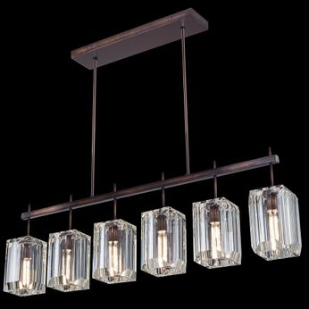 Fine Art Handcrafted Lighting 875240 Monceau Modern Bronze LED Kitchen Island Light Fixture