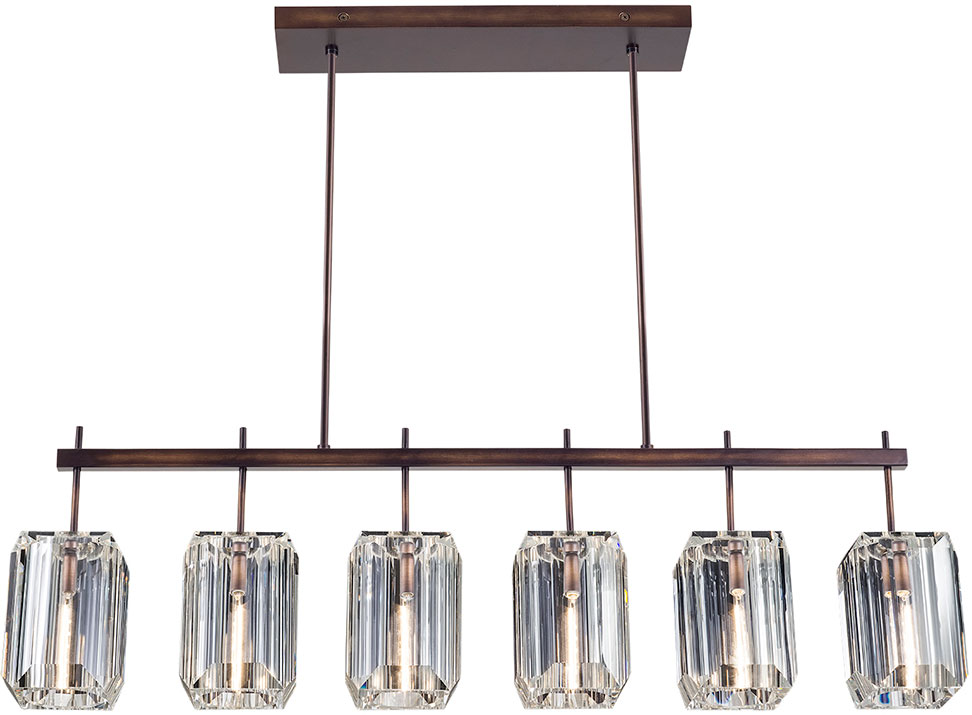 Fine Art Lamps 875240ST Monceau Patinated Bronze Kitchen Island Light