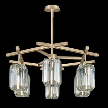 Fine Art Handcrafted Lighting 875340-2 Monceau Contemporary Gold LED Ceiling Chandelier