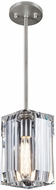 Fine Art Lamps 875440-1ST Monceau Platinized Silver Leaf Hanging Lamp