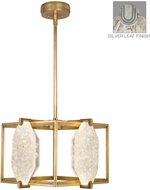 Fine Art Lamps 875540-11ST Allison Paladino Contemporary Prussian Silver Gray LED Pendant Lighting Fixture