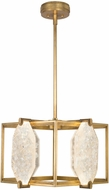 Fine Art Lamps 875540-21ST Allison Paladino Modern Gold Leaf LED Hanging Pendant Lighting