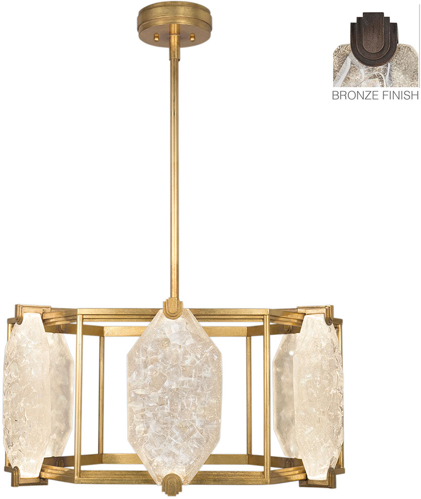 Fine Art Lamps 875640 31ST Allison Paladino Modern Patinated Bronze LED  Drop Lighting. Loading Zoom