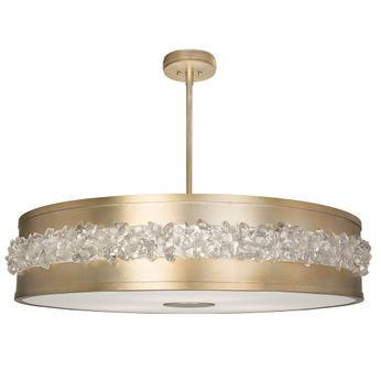 Fine Art Handcrafted Lighting 876240-1 Arctic Halo Contemporary Gold LED Drum Drop Lighting