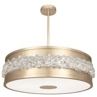 Fine Art Lamps 876340-1 Arctic Halo Contemporary Gold LED Drum Ceiling Pendant Light