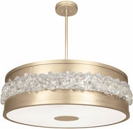 Fine Art Lamps 876340-1ST Arctic Halo Champagne Tinted Gold Leaf Hanging Lamp