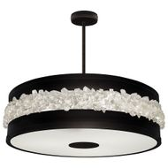 Fine Art Lamps 876340-2 Arctic Halo Contemporary Black LED Drum Drop Ceiling Light Fixture