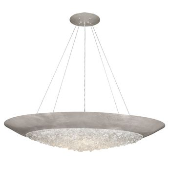 Fine Art Handcrafted Lighting 876540 Arctic Halo Silver LED Lighting Pendant