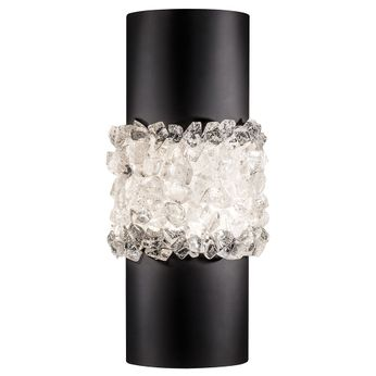 Fine Art Handcrafted Lighting 876650-2 Arctic Halo Black LED Lighting Wall Sconce