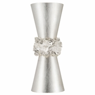 Fine Art Handcrafted Lighting 876750 Arctic Halo Silver LED Wall Lighting Sconce