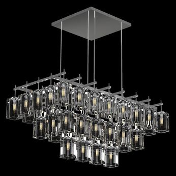 Fine Art Handcrafted Lighting 877240-1 Monceau Silver LED Island Light Fixture