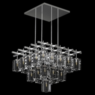 Fine Art Handcrafted Lighting 877540-1 Monceau Contemporary Silver LED Pendant Light Fixture