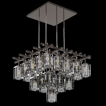 Fine Art Handcrafted Lighting 877540 Monceau Contemporary Bronze LED Hanging Light
